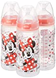 Disney Baby, Weithalsflaschen, Mittel, 0+ Monate, Rosa, 3 Flaschen - NUK