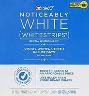 Crest Noticeably White Whitestrips Teeth Whitening Kit, 10 Treatments