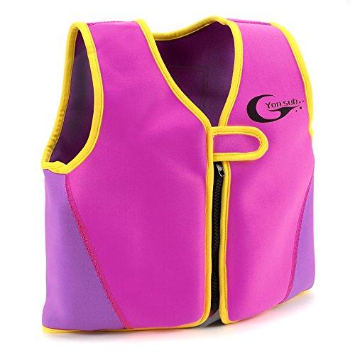 Swimwesten Kinder Schwimmweste Kinder Schwimmhilfe L rosa Floating Jacket