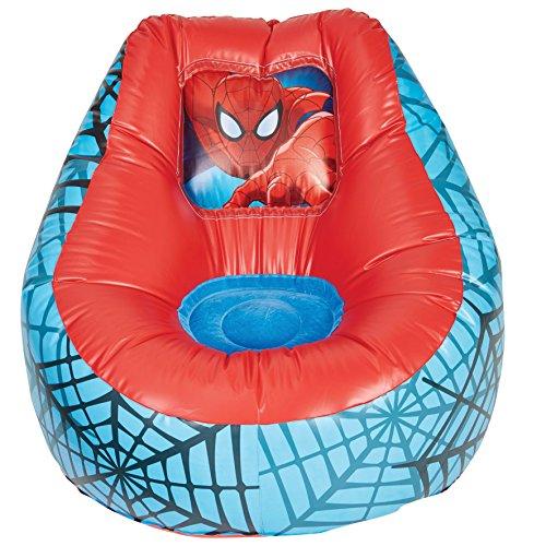 Ready room 289sdr spider-man-poltrona gonfiabile da riposo per bambini, pvc, red, 78 x 78 x 60 cm