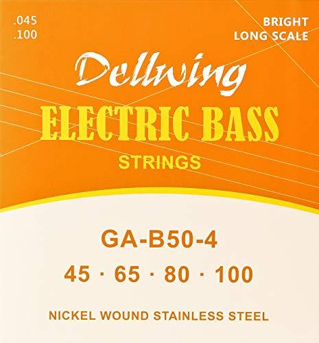 Dellwing Cuerdas para bajo eléctrico - Cuerdas guitarra bajo - Juego de...