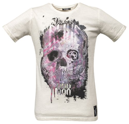 NO FUTURE Herren T-Shirt, Skull, Street Couture, offwhite, NF/GAS-12-013, GR M