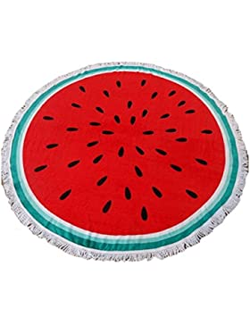 Zhhlinyuan Cool Retro Watermelon Pattern Picnic Mat Beach Mat Seaside Shawl Wrap Pad
