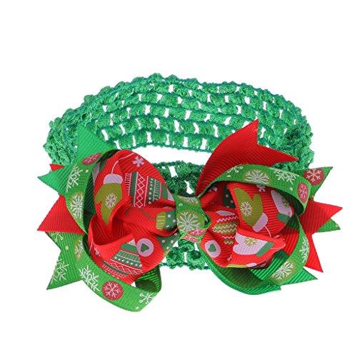6b001b04eb58d Noël Enfant Filles Bébé Bandeau Elastique avec Noeud de Papillon Décor Accessoire  de Cheveux ...