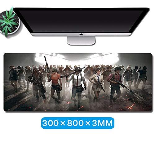 SHZMG Mauspads,Super Large Keyboard Cushion Game Video Mauskissen Animation Tischkissen Präzisionsschloss, Jedi Pistole 3 * 300 * 800mm