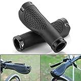 GIVBRO Fahrradlenker für MTB XC FR, reduziert Vibration, ergonomisches Design, TPR Gummi, schwarz eloxierte Aluminium-Endstücke, für 1,9 cm bis 2,5 cm Lenker