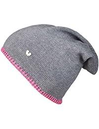 fa858ddb1be Cashmere Dreams Slouch-Beanie-Mütze mit Kaschmir - Hochwertige Strickmütze  für Damen Mädchen - Herz…