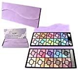JasCherry 100 Farben Lidschatten Makeup Paletten Schimmer - Sleek Pulver Augenschatten Make Up Etui Box - Satte Farben Kosmetik Eyeshadow Palette