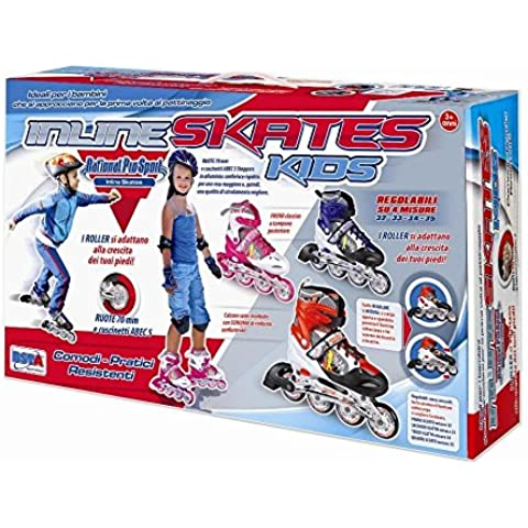 RSTA 9896 - Pattini Kids con Regolazione, Misure 31/32/33/34, Rosa