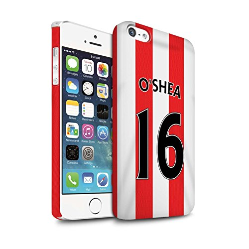 Offiziell Sunderland AFC Hülle / Matte Snap-On Case für Apple iPhone 5/5S / Yedlin Muster / SAFC Trikot Home 15/16 Kollektion O'Shea