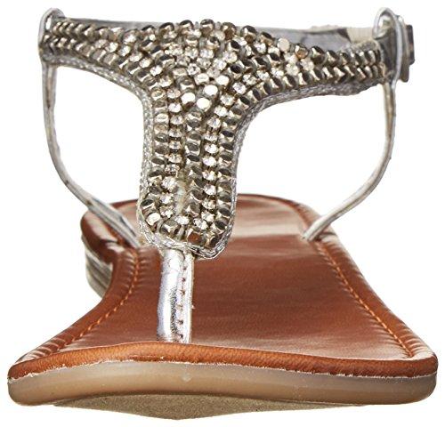 Madden Girl Ripplle Thong Sandal silver