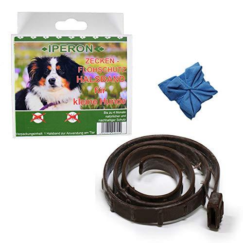 Lyra Pet Iperon Bio Flohhalsband klein 60 cm Zeckenhalsband Hund+ Microfasertuch