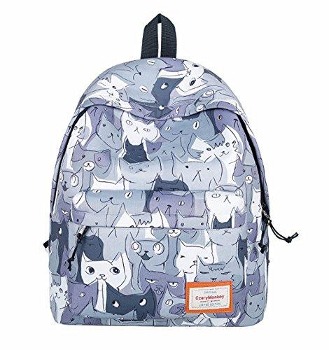 YAAGLE Schulranzen Kindrucksack Süß Katzen Campus Rucksack #6