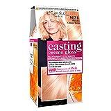 L'Oréal Paris Casting Crème Gloss Colorazione Capelli, Tinta Colore Trattamento Senza Ammoniaca per una Fragranza Piacevole, 1021 Biondo Chiaro Perla