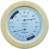 fischer Sauna Thermohygrometer, Holz, Apachi Holz, 30x 15,5x 30cm