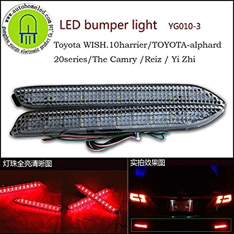 2 x yg010 LED Paraurti Posteriore Luce per Toyota Wish 10harrier Alphard 20 la serie Camry Reiz Automotive guida