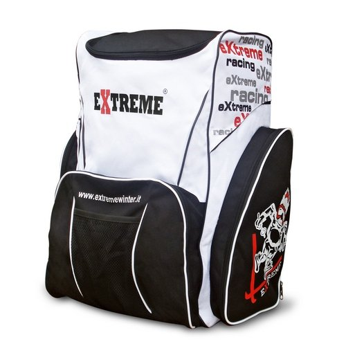 Extreme Winter Equipment Race Limited Rucksack Ski portascarponi, Schwarz/Weiß, 60 x 34 x 50 cm (Ski Racing Stiefel)