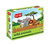 Kidz Valle Wild Animals Puzzles 6 X 2 Pieces 12 Months - 3 Years ( Puzzles for Kids, Floor Puzzles )