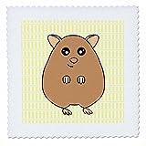 3drose QS _ 6172_ 1Cute braun Hamster Quilt Platz,