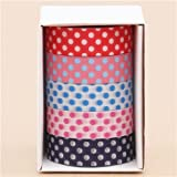 nastri adesivi Washi blu rosa bianco pois mt set 5pz