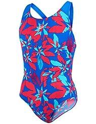 Speedo Girl 's Pina Canta Allover–Bañador, color azul neón/Bali Azul, tamaño 28