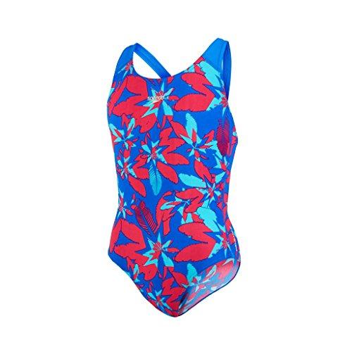 Speedo Mädchen Badeanzug - Pina Canta Allover Splashback, Neon Blue/Bali Blue, verschiedene Größen verfügbar