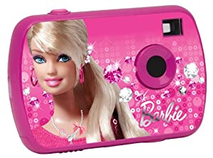 Barbie Barbie-LE-DJ017BB Cámara compacta, Color Rosa (Lexibook DJ017BB)