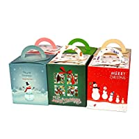 Gardeningwill 12pcs Cute Cartoon Gift Fruit Candy Box For Wedding Christmas Festival Party With Handle