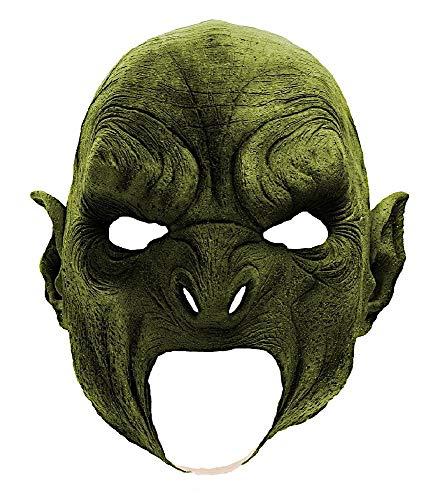 (shoperama Latex Maske Ork Vollstrecker Mittelerde Herr der Ringe Fantasy Halloween Horror Latexmaske LARP Cosplay)