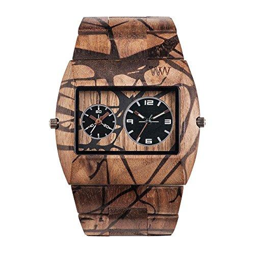 WEWOOD Reloj Analógico para Hombre de Cuarzo con Correa en Madera WW40005