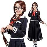 Marinero estilo falda larga de la muchacha 413 Escuela / Anime japonés traje Manga mediano cosplay uniforme
