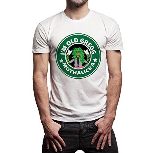 Starbucks Im old gregg Mothalicka Coffee Herren T-Shirt Weiß