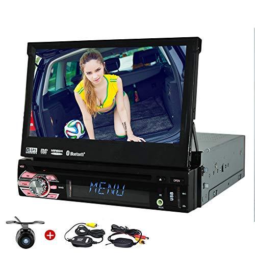 Freie 8GB Auto-GPS-Karte und Wireless-Rückfahrkamera inklusive! 7inch Single din Car DVD-Player in der Schlag-Navigationssystem Autoradio Stereo 1 DIN-Format Bluetooth GPS SAT NAV Unterstützungs-USB-