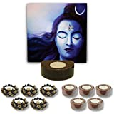 TYYC Home Decorative Candle Holders Diwali Gift Items Lord Shiva Chandrika Tea Light Holder- Set Of 11