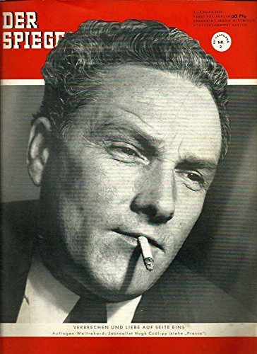 Der Spiegel. 8. Jahrgang / Heft Nr. 2: 6. Januar 1954 (Titelthema/-foto: Journalist Hugh Cudlipp /