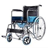 T-Rollstühle Faltender Rollstuhl, Tragbare alte Laufkatze, Mehrzwecktoilette, älterer Roller