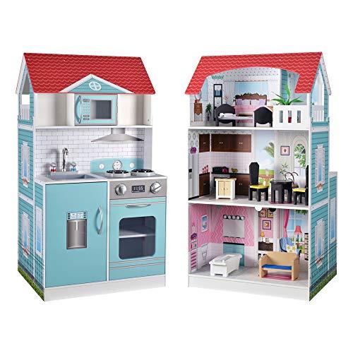ColorBaby- Cocina y Casa de muñecas 2 en 1 (85292)
