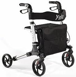 Aluminium Rollator Yola Neu faltbar Leichtgewicht Gehwagen Gehhilfe Nur 7,6 kg