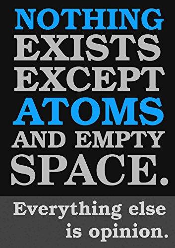 Das Museum Outlet–atomist Zitat aus Demokrit, gespannte Leinwand Galerie verpackt. 96,5x 121,9cm