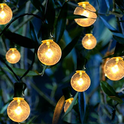 Außen, 25er Garten Lichterketten Außen G40 Lichterkette Außen Wasserdicht 7.62M/25FT Lichterkette Glühbirne Schnur Lichter für Garten,Bäume,Terrasse,Party,Hochzeit (Warmweiß) ()