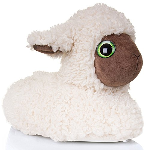 Snuggles Clothing, lustige Hausschuhe in Tierform, Weiß - White Lamb - Größe: 38/39 EU