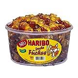 Haribo Volpi, Caramelle Gommose al Gusto Limone e Cola, Dolciumi alla Frutta, 150 Pezzi, 1200 g Barattolo