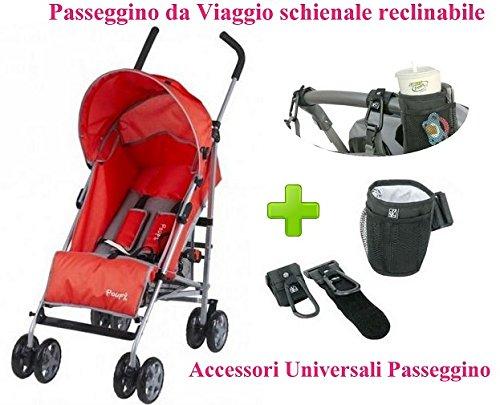 Lightweight Stroller Travel Red