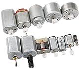 DC Elektromotor Elektrisch Motor Kit, Yeeco 12 Stück Mikro Motor Generator Motor Treiber Einstellen Zentrisch Ausgabe Welle mit Gears für Technologiemodell DIY