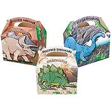 Set de 20 cajas para cumpleaños infantil, para llenar de gominolas, diseño de dinosaurios