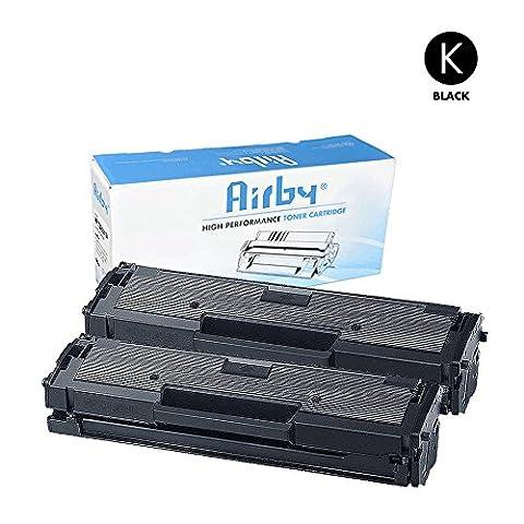Airby® MLT-D111S Cartouche de Toner Compatible Pour Samsung Xpress SL-M2020 SL-M2022 SL-M2026 SL-M2070 SL-M2078W Noir - 1000 pages (2 paquets)