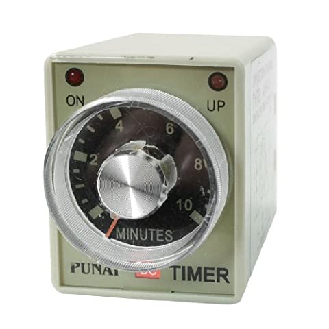 sourcingmap® AH3-2 DC 24V 8 Pins DPDT 0-10 Minutes 10Min Power on Delay Timer Time Relay