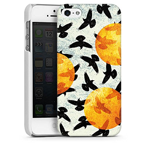 Apple iPhone 5 Housse étui coque protection Oiseaux Ailes Oiseau CasDur blanc