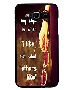 Printvisa 2D Printed Quotes Designer back case cover for Grand 3 - D4536