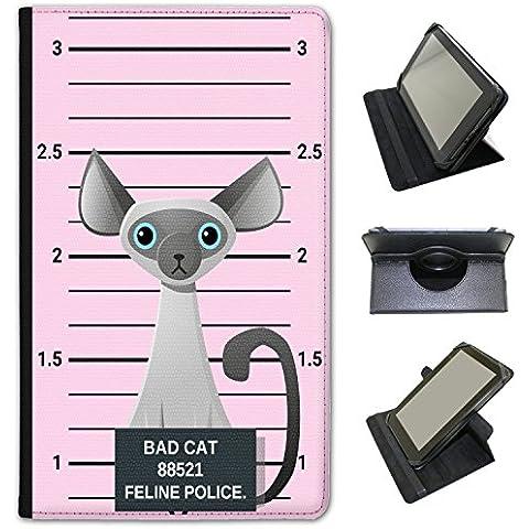 Polizia Lineup di Naughty Bad gatti universale Custodia a Libro